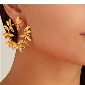 Leaf C Shape Earrings